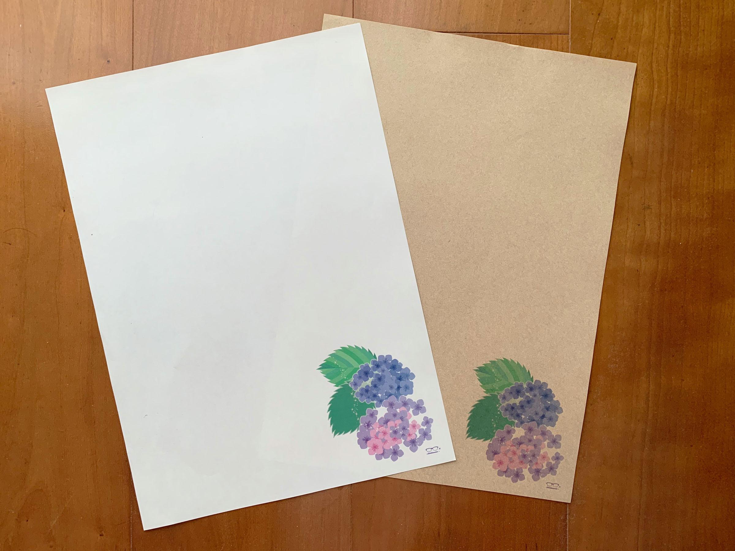 用紙を変えるとガラッと雰囲気が変わります